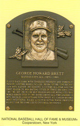 George Brett Royals Hall Of Fame Postcard