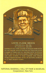 Lou Brock Cardinals Hall Of Fame Postcard