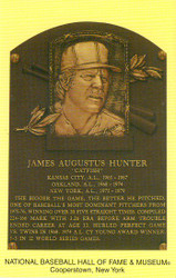 Jim Catfish Hunter Oakland Athletics A's Hall Of Fame Postcard