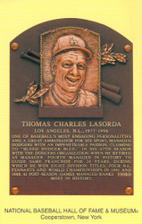 Tommy Lasorda Dodgers Hall Of Fame Postcard