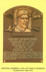 Gaylord Perry Giants Hall Of Fame Postcard
