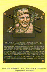 Brooks Robinson Orioles Hall Of Fame Postcard