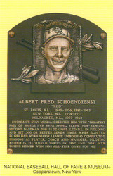 Red Schoendienst Cardinals Hall Of Fame Postcard