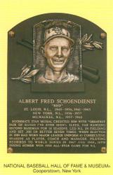 Red Schoendienst Cardinals Hall Of Fame Postcard