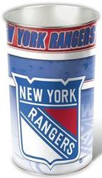 New York Rangers NHL Team Logo Wincraft Metal Tapered Wastebasket Trash Can