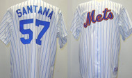 Johan Santana New York Mets Majestic Home Custom XL Jersey