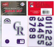Colorado Rockies Official Rawlings Authentic Batting Helmet Decal Kit