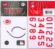 Cincinnati Reds Official Rawlings Authentic Batting Helmet Decal Kit