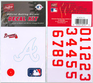 Atlanta Braves Official Rawlings Authentic Batting Helmet Decal Kit
