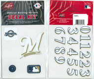 Milwaukee Brewers Official Rawlings Authentic Batting Helmet Decal Kit