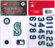 Seattle Mariners Official Rawlings Authentic Batting Helmet Decal Kit