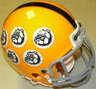 All The Right Moves Ampipe Bulls 1983 Football Movie Authentic Mini Helmet