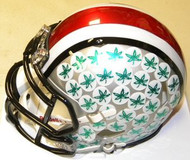 Ohio State Buckeyes Chrome with Green Buckeyes Riddell NCAA Replica Revolution SPEED Mini Helmet
