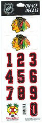 Chicago Blackhawks Sportstar Officially Licensed Authentic Center Ice NHL Hockey Helmet Decal Kit #1