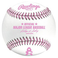 Mothers Day Pink Ribbon & Stitches Rawlings Official Major League Game Baseball in Box