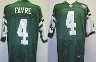 Brett Favre New York Jets Custom Green Reebok Licensed Mesh Souvenir NFL On Field Jersey Size XL
