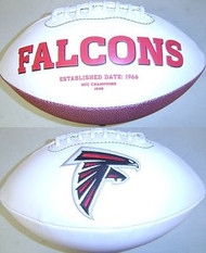 Atlanta Falcons Rawlings Jarden Sports Signature NFL Full Size Fotoball Football Current Version - BLOWN UP with BOX & PEN