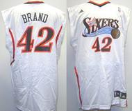 Elton Brand Philadelphia 76ers White #42 Adidas XL Road Jersey