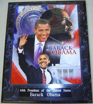 Barack Obama 44th President Of The United States 10.5x13 Plaque - PLAQUE-OBAMA2
