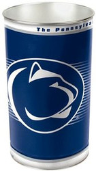 Penn State Nittany Lions NCAA Team Logo Wincraft Metal Tapered Wastebasket Trash Can