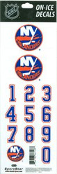 New York Islanders Sportstar Officially Licensed Authentic Center Ice NHL Hockey Helmet Decal Kit #4