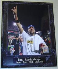 Ben Roethlisberger Pittsburgh Steelers Super Bowl XLIII 43 Champion 10.5x13 Plaque