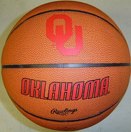Oklahoma Sooners NCAA Rawlings Tip Off Full Size Basketball