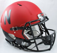 Nebraska Cornhuskers Red/Black Riddell NCAA Authentic Revolution SPEED Pro Line Full Size Helmet