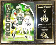 Aaron Rodgers Green Bay Packers Super Bowl XLV 45 MVP & Champions 12x15 Plaque