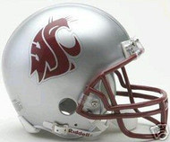"Washington State Cougars Grey Home ""WSC Logo with Red Mask"" Riddell NCAA Throwback Mini Helmet"