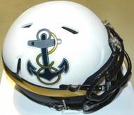 Navy Midshipmen Matte White Anchor Logo Riddell NCAA Replica Revolution SPEED Mini Helmet