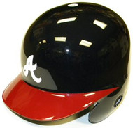 Atlanta Braves Rawlings Full Size Authentic Right Handed Batting Helmet (Left Flap Regular, Red Brim)