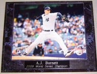 A.J. Burnett New York Yankees 2009 World Series Champion 10.5x13 Plaque