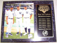 New York Yankees 2009 World Series Champions Rivera, Jeter & Rodriguez 12x15 Plaque