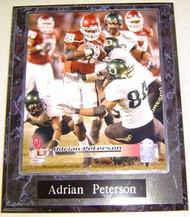 Adrian Peterson Oklahoma Sooners NCAA 10.5x13 Plaque - apetersonp5