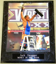 Jack Swagger WWE Wrestlemania 26 Money In The Bank Winner 10.5 x 13 Plaque