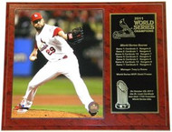 Chris Carpenter St. Louis Cardinals 2011 World Series Champions 12x15 Plaque