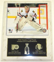 Antti Niemi Chicago Blackhawks NHL Stanley Cup Finals 12 x 15 Plaque