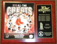 Boston Red Sox 2013 World Series Champions MLB Baseball 8-Time Champions 12x15 Plaque