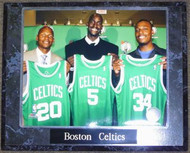 Boston Celtics Ray Allen, Kevin Garnett & Paul Pierce NBA 10.5x13 Plaque