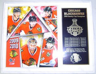 Chicago Blackhawks 2010 Stanley Cup Champions 15x12 NHL Plaque Toews, Kane, Sharp, Niemi & Keith