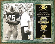 Bart Starr & Vince Lombardi Green Bay Packers Championship History 12x15 Plaque
