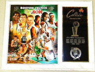 Boston Celtics NBA Champions 15x12 Plaque Robert Parish, Kevin McHale, Larry Bird, Paul Pierce, Kevin Garnett & Ray Allen
