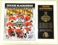 Chicago Blackhawks 2010 Stanley Cup Champions 15x12 NHL Plaque Dave Bolland, Patrick Sharp, Marian Hossa, Patrick Kane, Duncan Keith, Dustin Byfuglien, Jonathan Toews & Antti Niemi