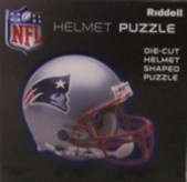 "New England Patriots Riddell NFL 16""x16"" Helmet Puzzle 100 Pieces"