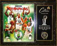 Boston Celtics 2008 NBA Champions 15x12 Plaque Kevin Garnett, Kendrick Perkins, Ray Allen, Paul Pierce & Rajon Rondo