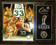 Larry Bird Boston Celtics NBA Champions 15x12 Plaque