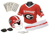 Georgia Bulldogs Franklin Deluxe Youth / Kids Football Uniform Set - Size Medium