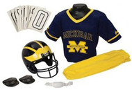 Michigan Wolverines Franklin Deluxe Youth / Kids Football Uniform Set - Size Medium