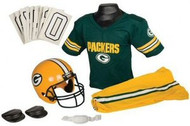 Green Bay Packers Franklin Deluxe Youth / Kids Football Uniform Set - Size Small